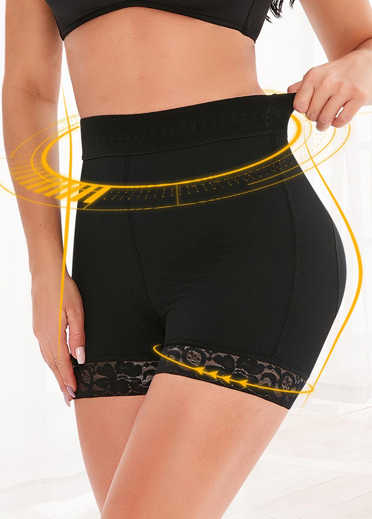 High Waist Breathable Mesh Black Panties
