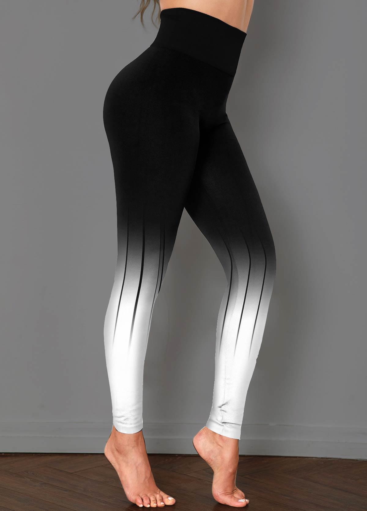 ROTITA High Waist Black Ombre Skinny Pants