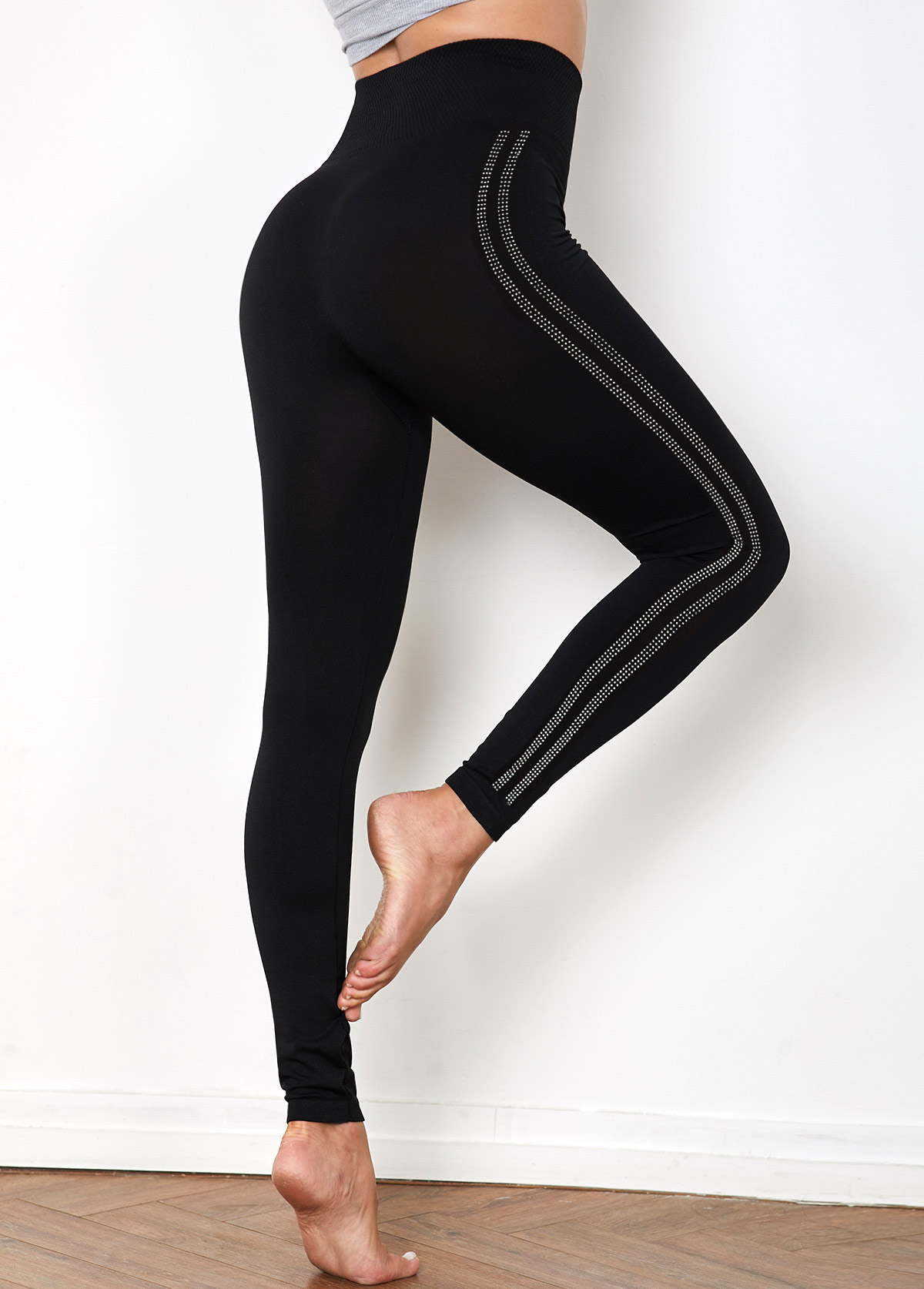 High Waist Hot Drilling Super Elastic Legging Pants