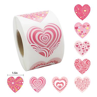 13.3 Inch Pink Heart Gift Sealing Sticker