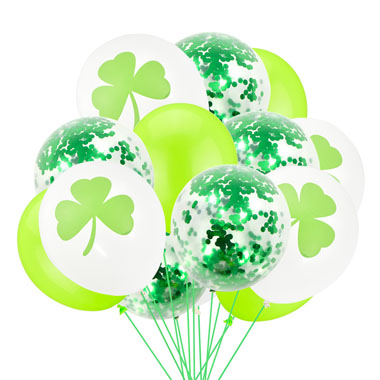 Green Shamrock Sequin Balloon Set