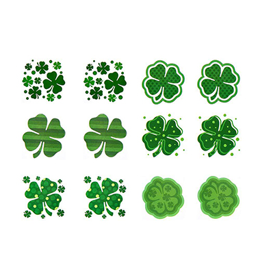 1.6 X 1.6 Inch Shamrock Green Tattoo Stickers