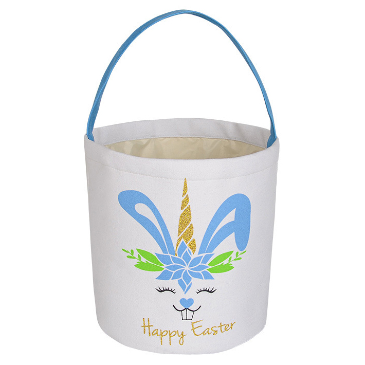 9.1 X 9.8 Inch Velvet Easter Rabbit Print Bag