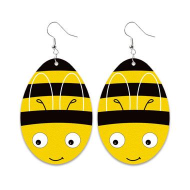 Water Design Easter Bee Print Earring Set