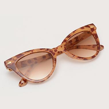 1 Pair Brown Cat Eye Frame TR Sunglasses