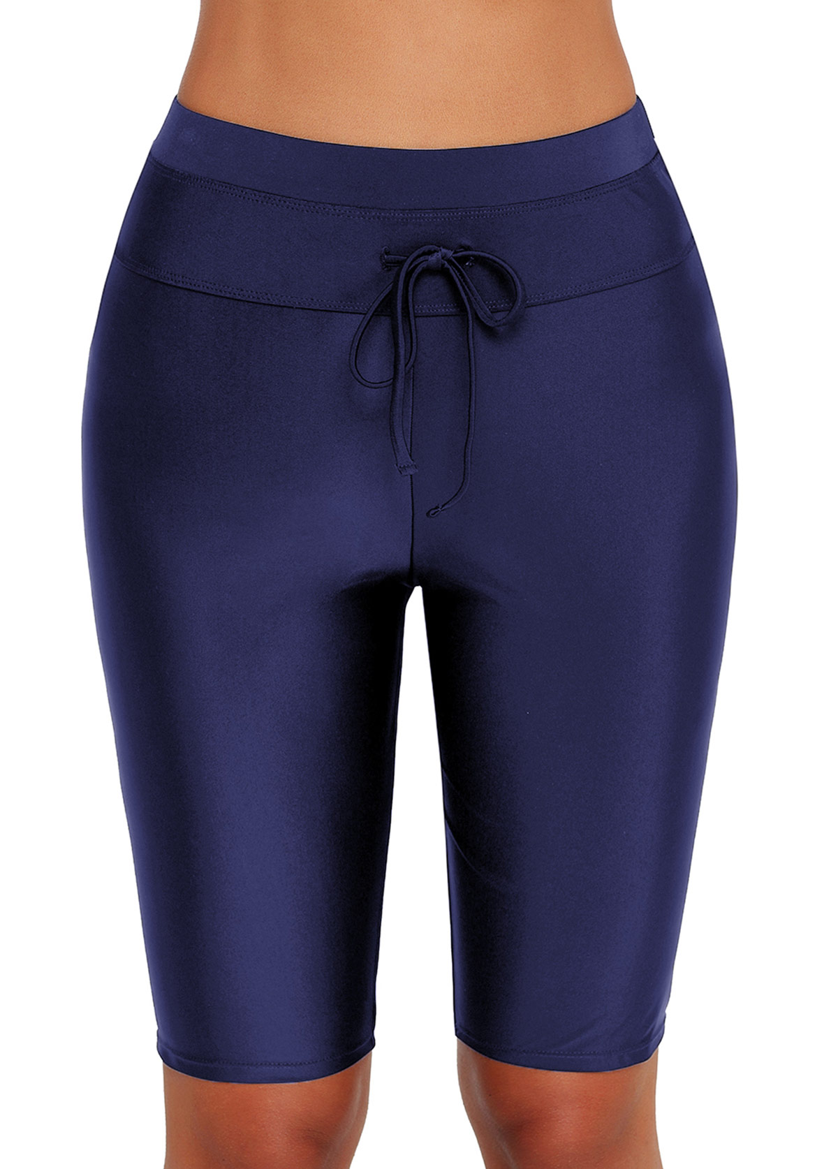 Drawstring Detail High Waist Swim Pants