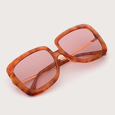 1 Pair Pink Square Frame TR Sunglasses