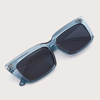 1 Pair Blue Cat Eye Frame TR Sunglasses
