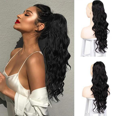 Big Wave Elastic Net Ponytail Wig