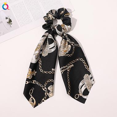 Chain Print Hanky Ribbon Hair Accessories