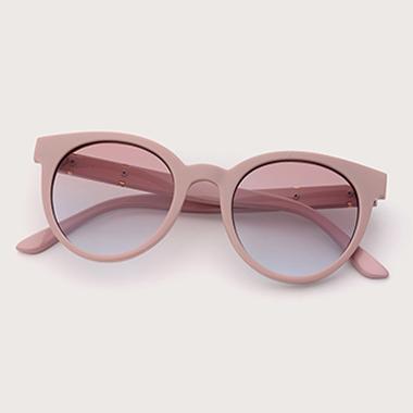 1 Pair TR Pink Round Frame Sunglasses