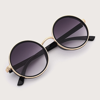 1 Pair Metal TR Round Frame Sunglasses