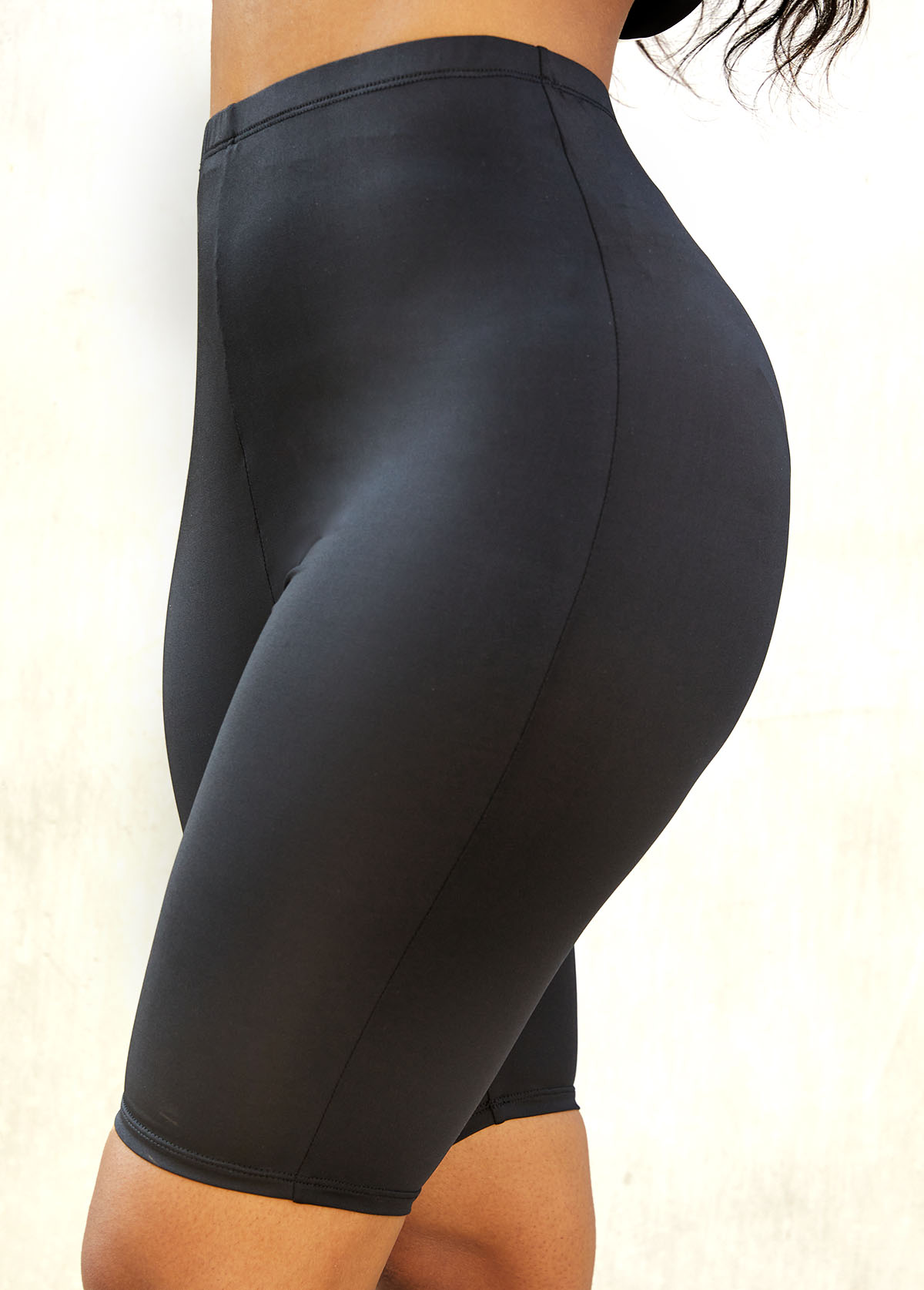 ROTITA Solid High Waistt Skinny Elastic Detail Legging