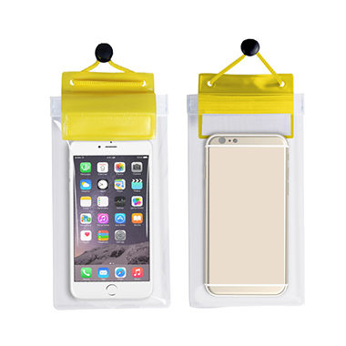 Transparent Yellow Waterproof Sealed Phone Case