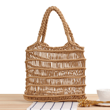 Hollow Out Weave Solid Storage Bag