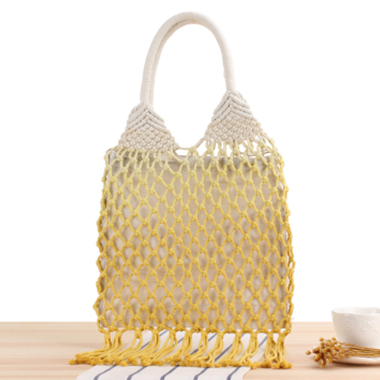 Tassel Detail Ombre Weave Design Storage Bag