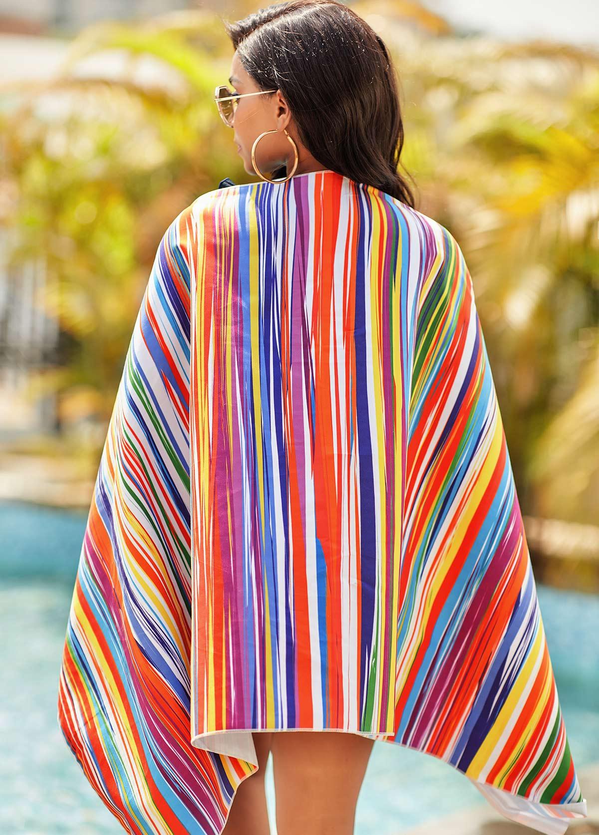 Rainbow Stripe Bohemia Rectangle Bath Towel