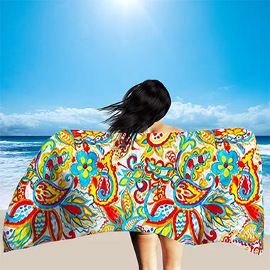 Paisley Print Rectangle Bohemia Bath Towel