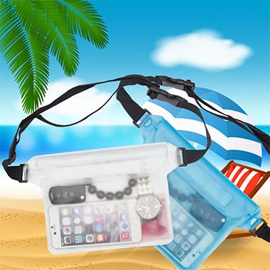 Transparent Waterproof Contrast PVC Storage Bag