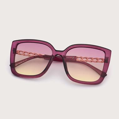 1 Pair Cat Eye Frame TR and Metal Sunglasses