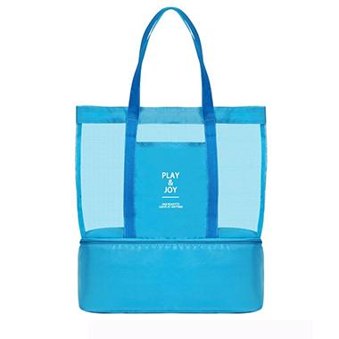 Dry Wet Separation Blue Letter Print Storage Bag