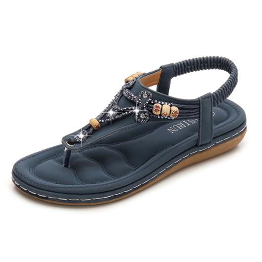 Rhinestone Design Bohemia Slippers for Women