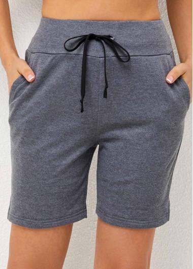 ROTITA Double Pocket Grey High Waisted Pants