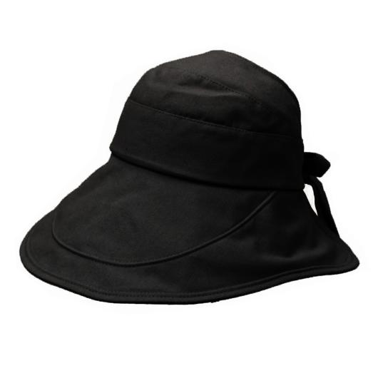 Solid Tie Back Bucket Hat for Women