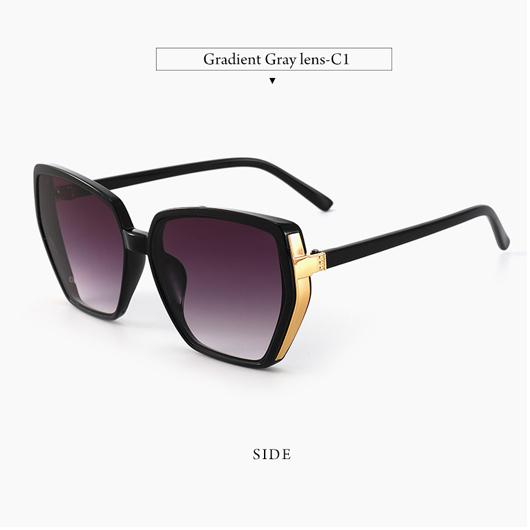 1 Pair Cat Eye Detail Purple Sunglasses
