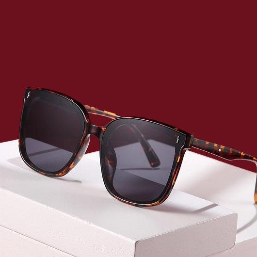 1 Pair Cat Eye Frame Leopard Sunglasses
