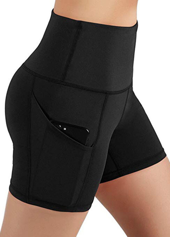 ROTITA Pocket Detail Plus Size High Waist Swim Shorts