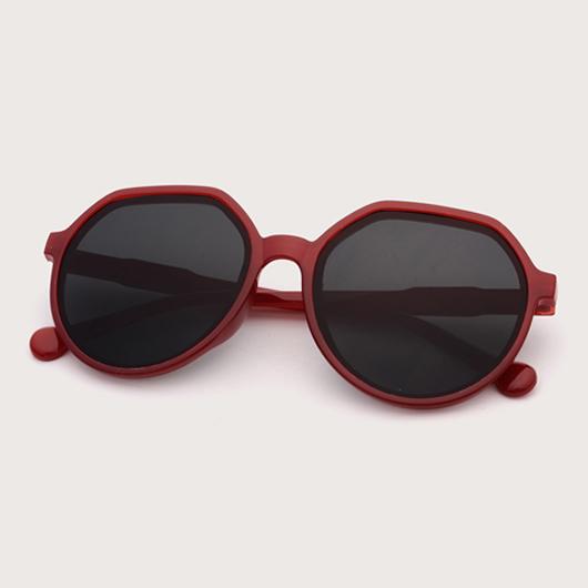 1 Pair Round Frame Contrast TR Sunglasses