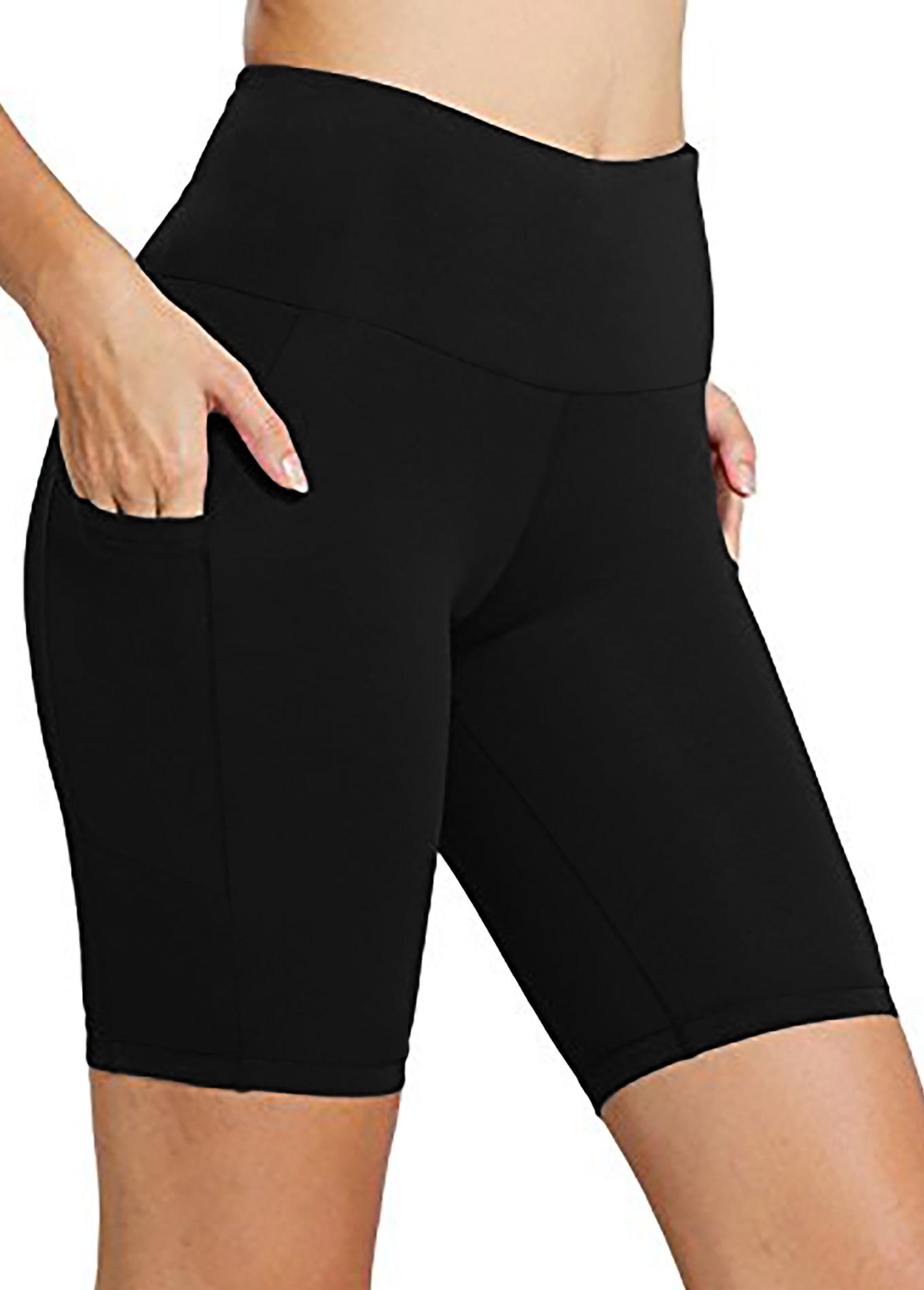 ROTITA Black High Waisted Pocket Swim Shorts