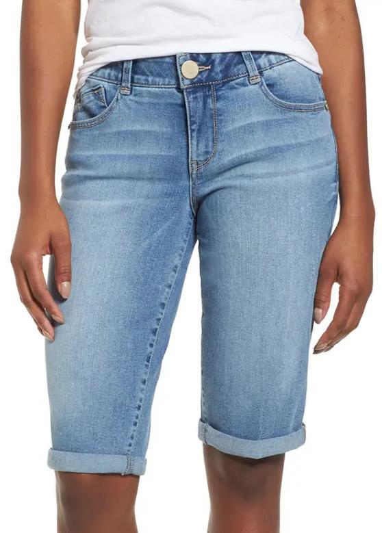 ROTITA Roll Hem Pocket Button Up Shorts