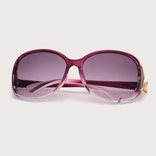 TR Cat Eye Frame Metal Detail Sunglasses