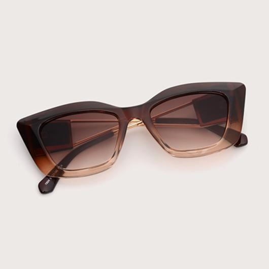 TR Brown Metal Detail Sunglasses