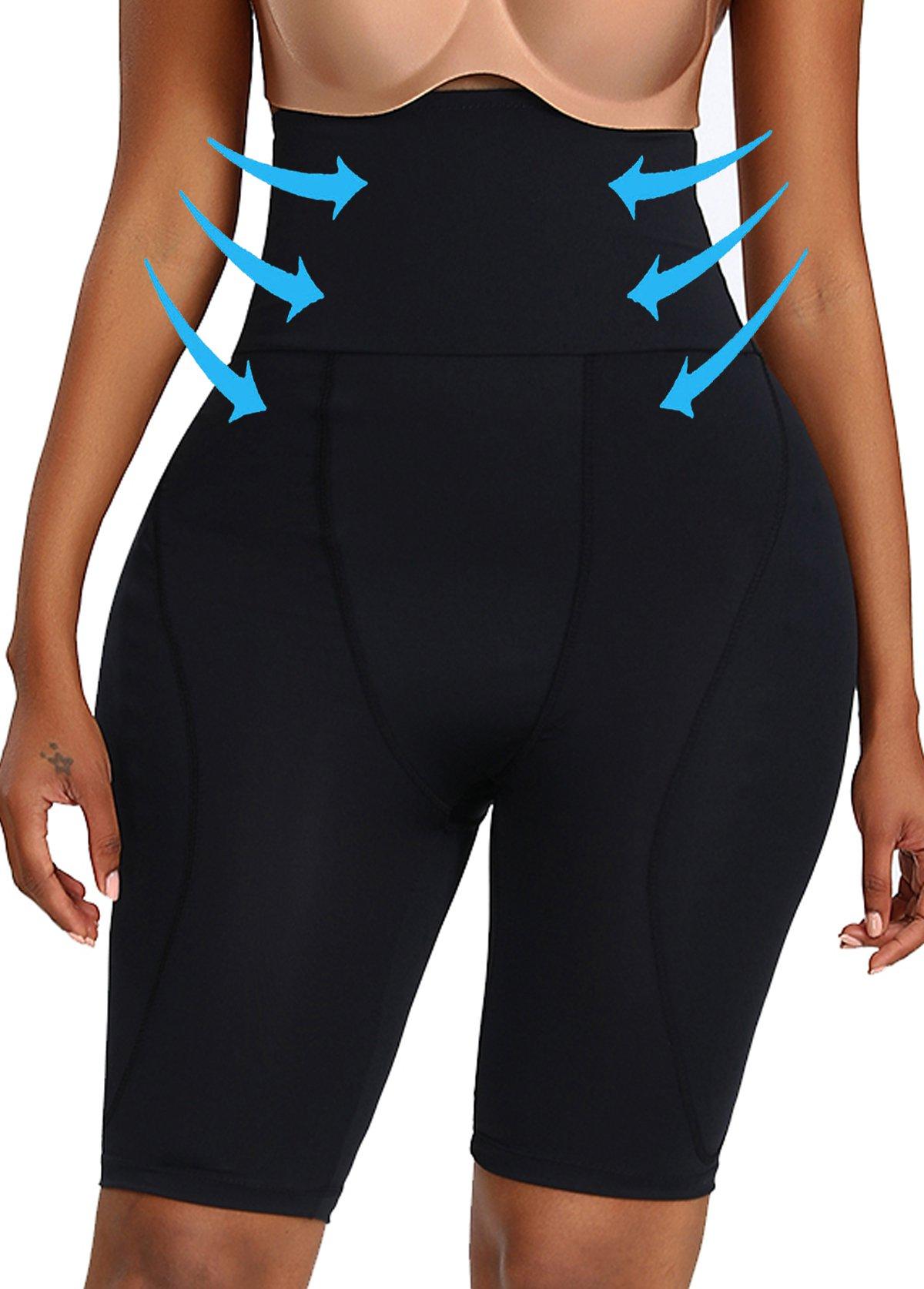 High Waist Elastic Detail Solid Skinny Panties