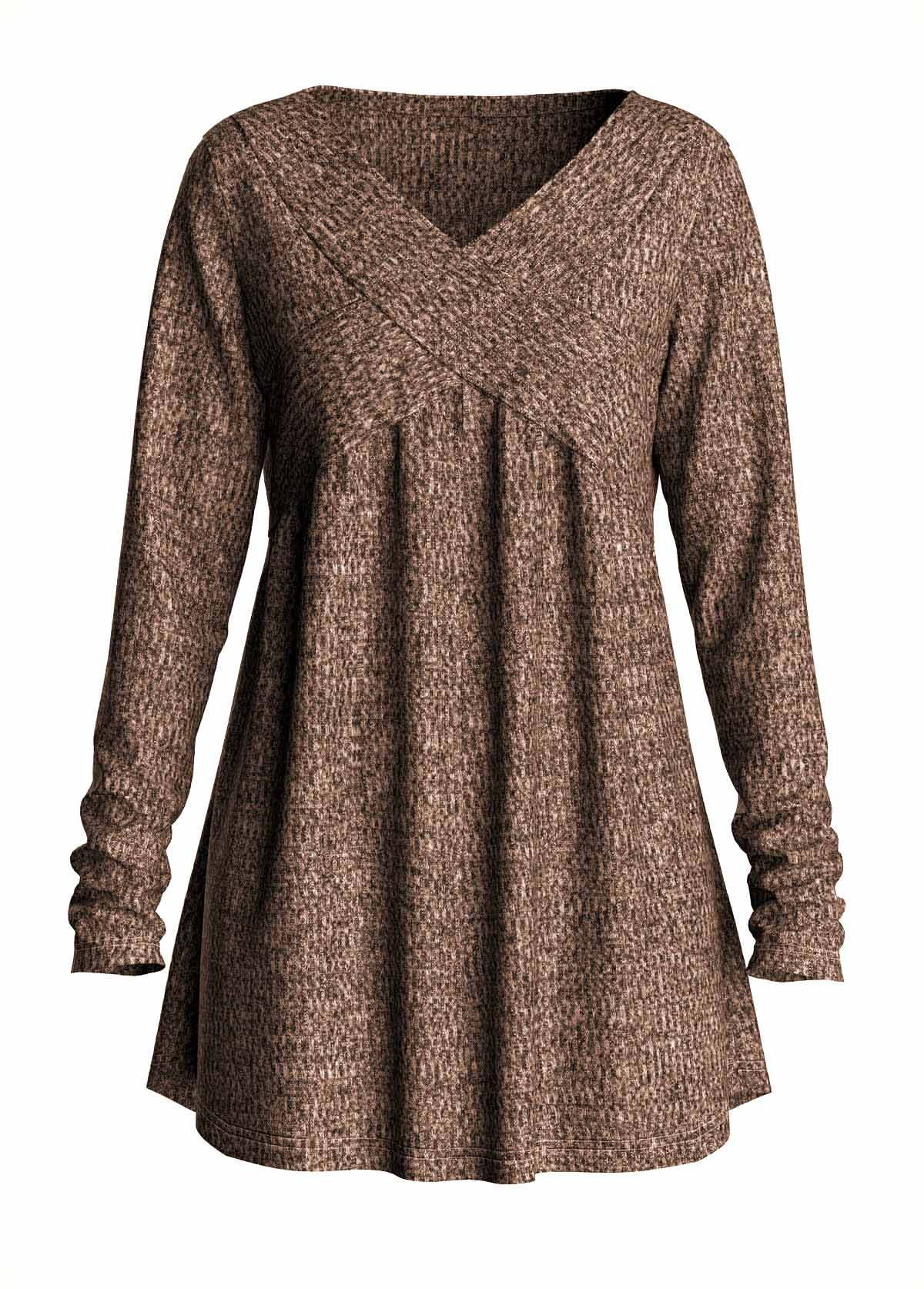 ROTITA Long Sleeve V Neck Solid T Shirt
