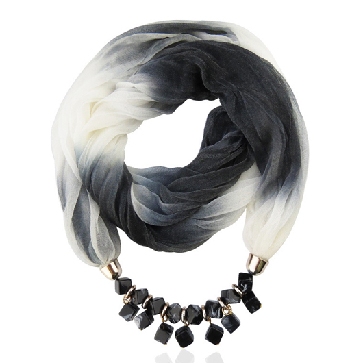 Chiffon Ink Painting Scarf for Women