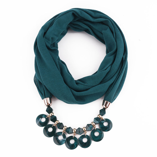 Turquoise Acrylic Chain Design Scarf for Women
