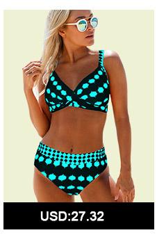 Spaghetti Strap Polka Dot Print Bikini Set