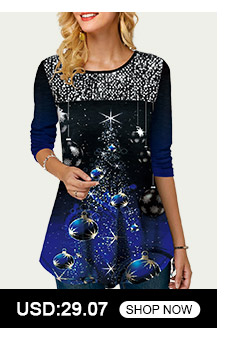 Sequin Embellished Christmas Print Long Sleeve T Shirt