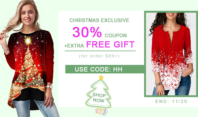 CHRISTMAS EXCLUSIVE 30% COUPON+EXTRA FREE GIFT